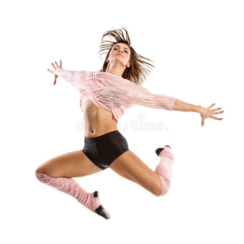 跳舞现代节律唱诵的音乐样式妇女的舞蹈演员跳和 图库摄影