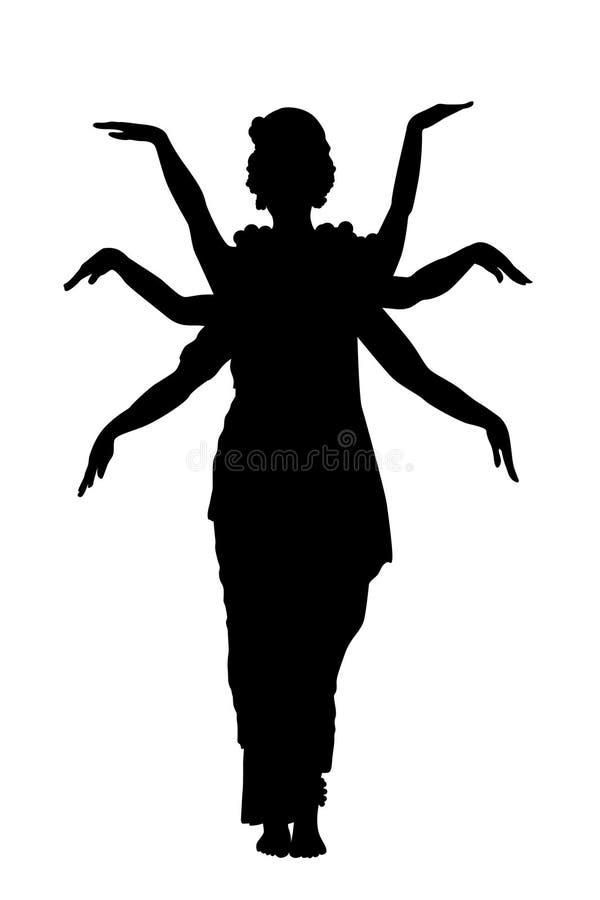 跳舞的印第安孤立 向量例证