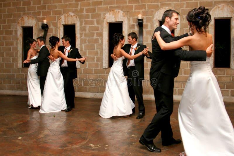 跳舞的双 库存照片