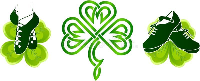 跳舞的困难爱尔兰鞋子软绵绵地 皇族释放例证