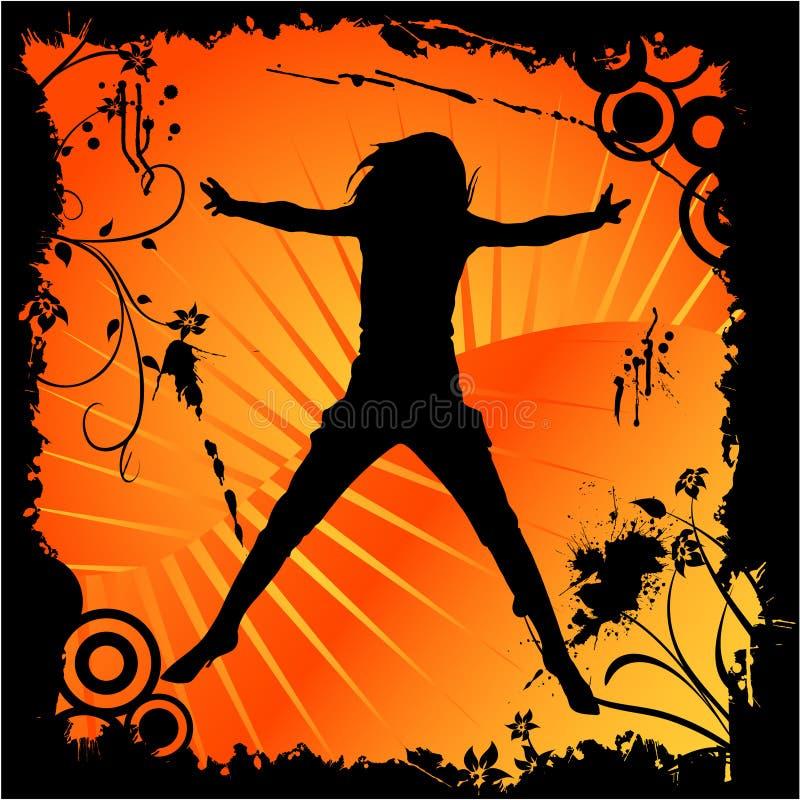 跳舞的愉快的妇女 皇族释放例证