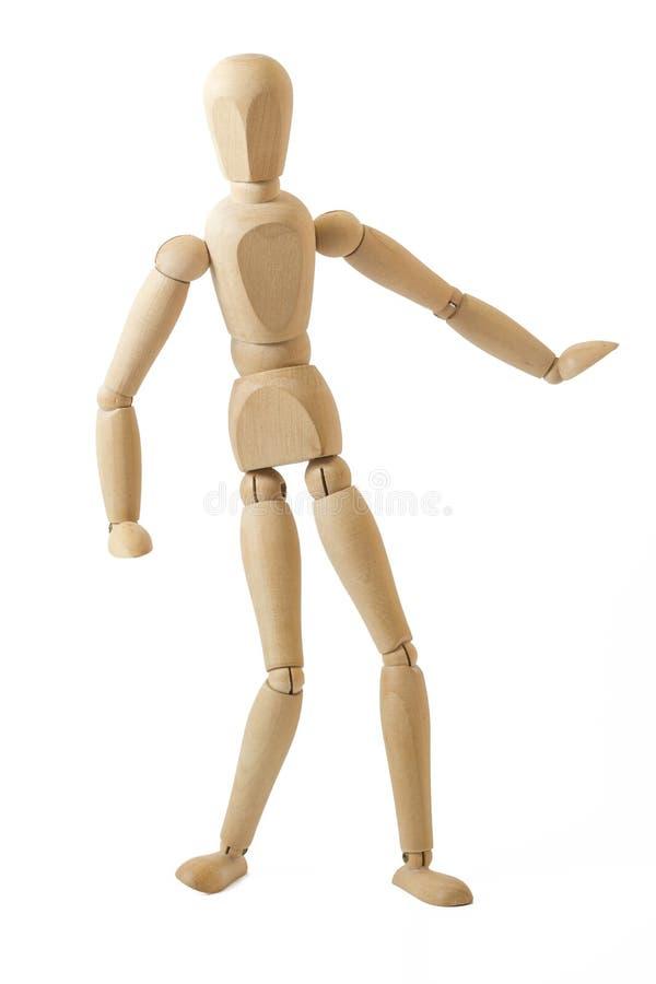 跳舞的木钝汉  图库摄影