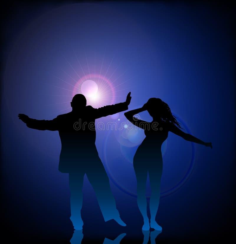 跳舞的火光透镜人向量妇女 库存照片