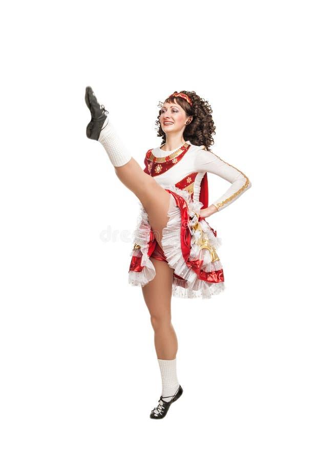 跳舞的爱尔兰人舞蹈 免版税库存照片