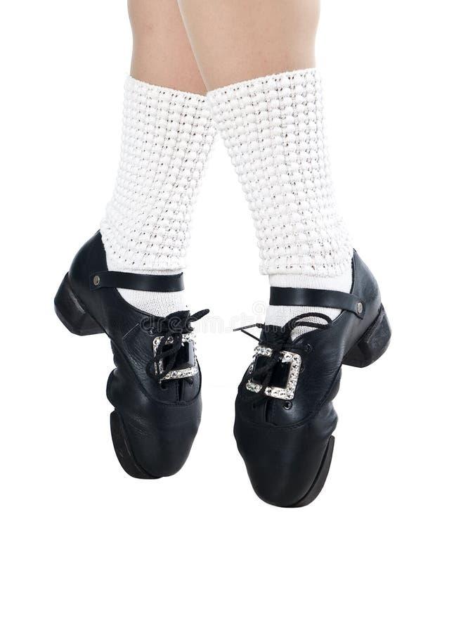 跳舞的爱尔兰行程鞋子 免版税图库摄影