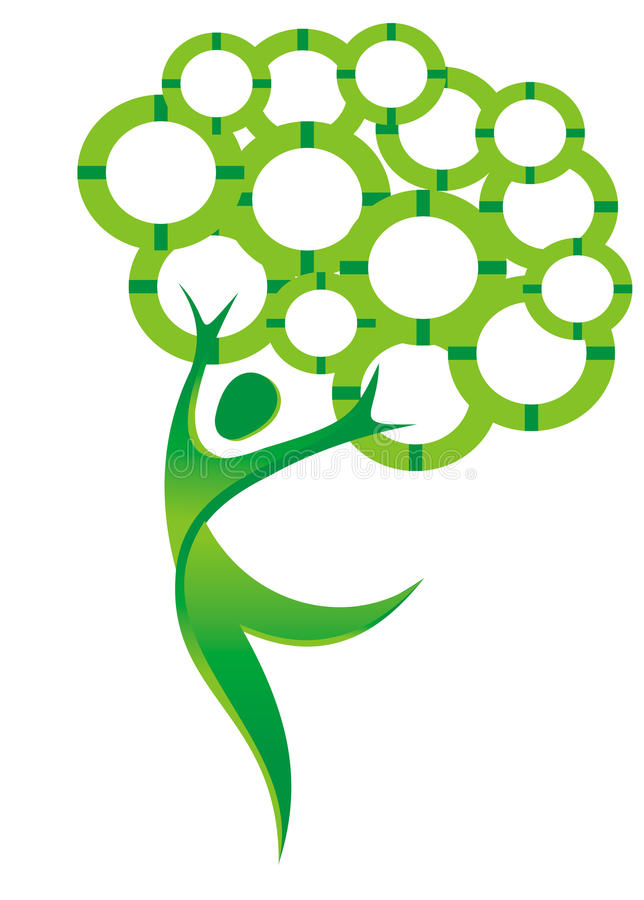跳舞结构树 库存例证