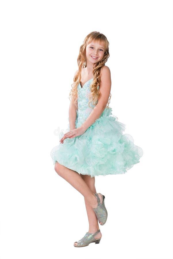 跳舞花梢女孩褂子查出的青少年 库存照片