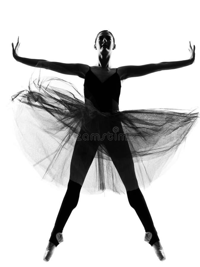 跳芭蕾舞者妇女 免版税库存图片