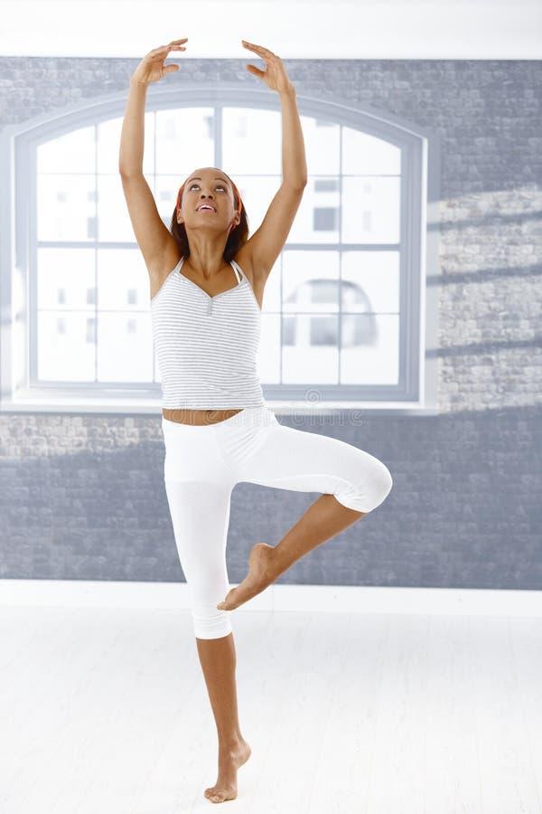 跳芭蕾舞者姿势 免版税图库摄影