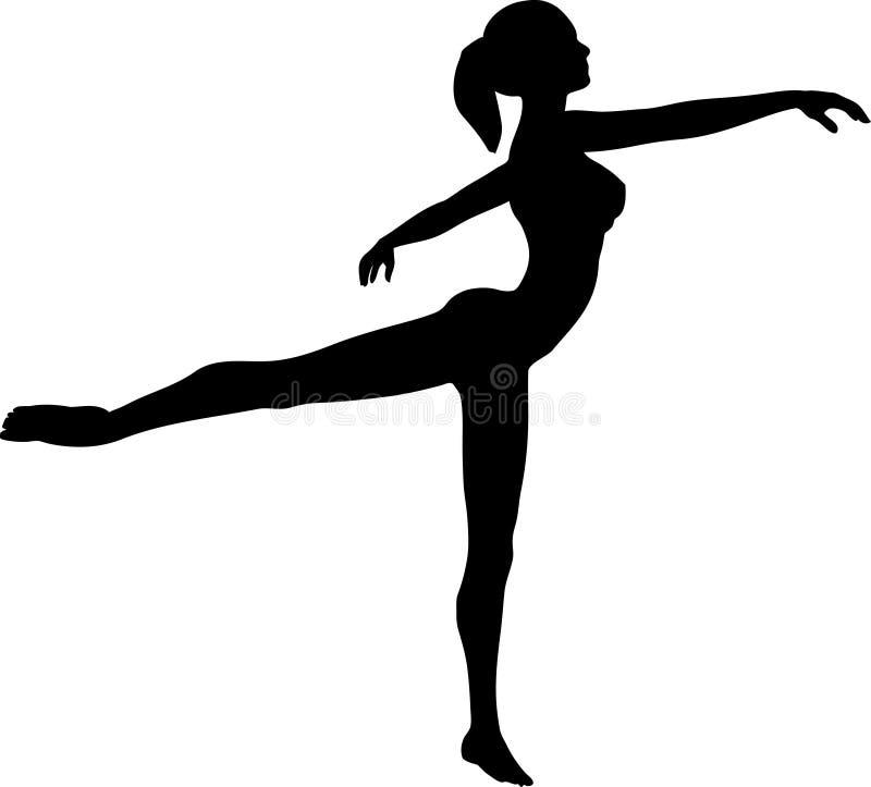 跳芭蕾舞者 库存例证