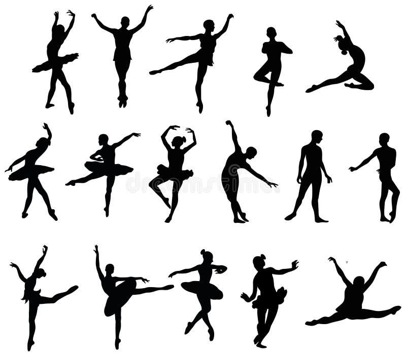 跳芭蕾舞者 皇族释放例证
