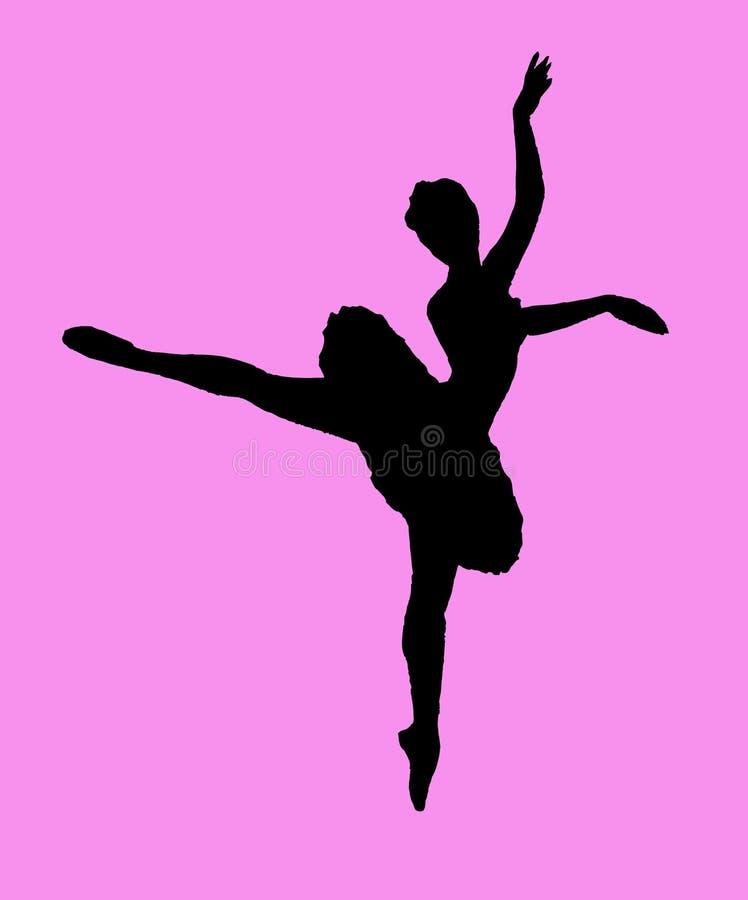 跳芭蕾舞者 向量例证