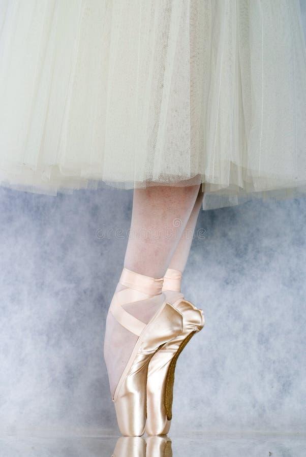跳芭蕾舞者pointe 免版税库存照片