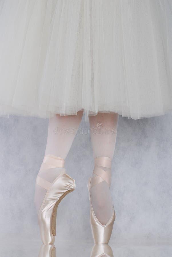 跳芭蕾舞者pointe 免版税图库摄影