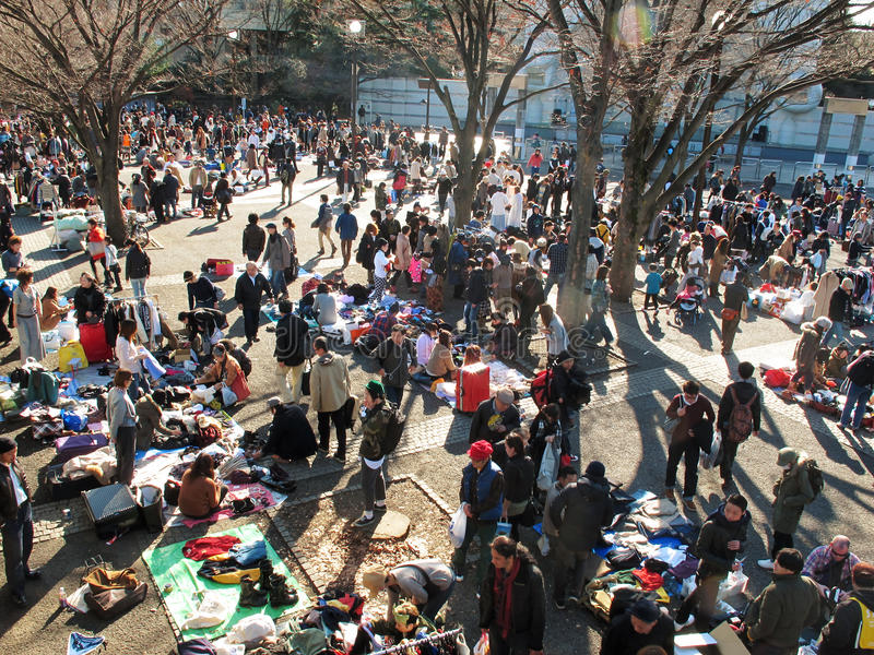 跳蚤市场在Harajuku日本 库存图片