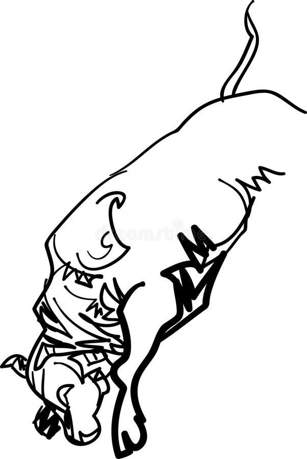 跳跃的公牛 向量例证