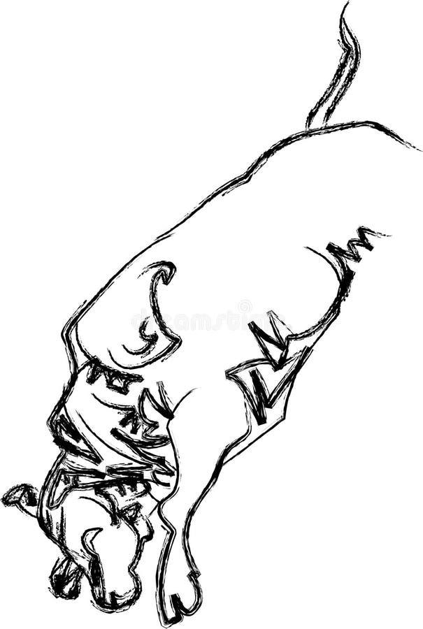 跳跃的公牛 皇族释放例证