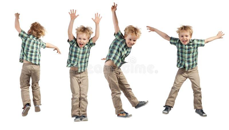 跳跃的男孩 免版税库存图片