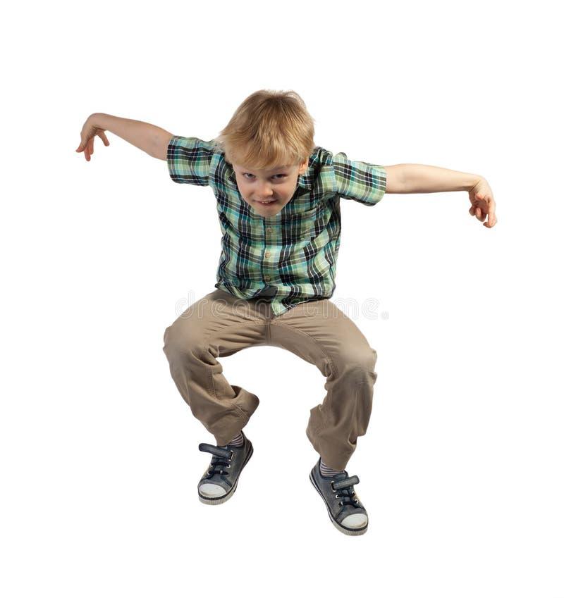 跳跃的男孩 免版税库存照片
