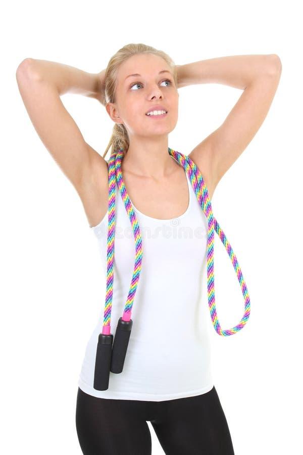 Download 跳过绳索运动的白人妇女 库存图片. 图片 包括有 关心, 有吸引力的, 有氧, 上涨, 饮食, 爱好健美者 - 22353731
