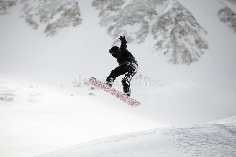 挡雪板跳跃 库存照片