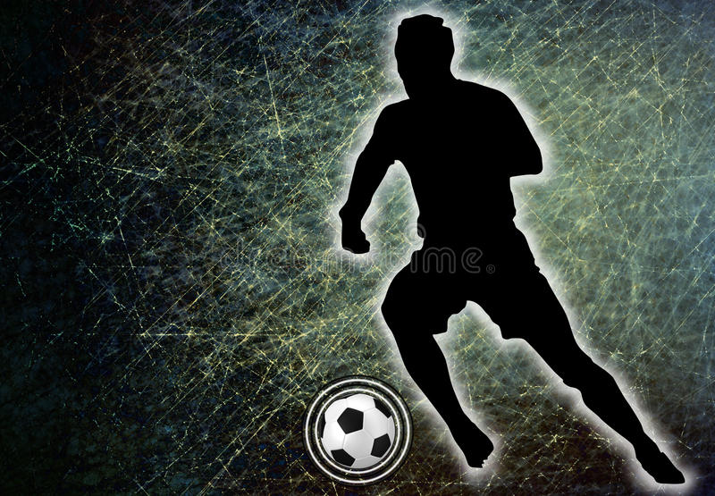 踢球,例证的足球运动员 皇族释放例证