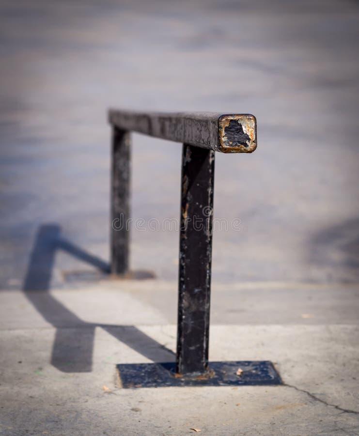 踩滑板的铁路运输 免版税库存图片