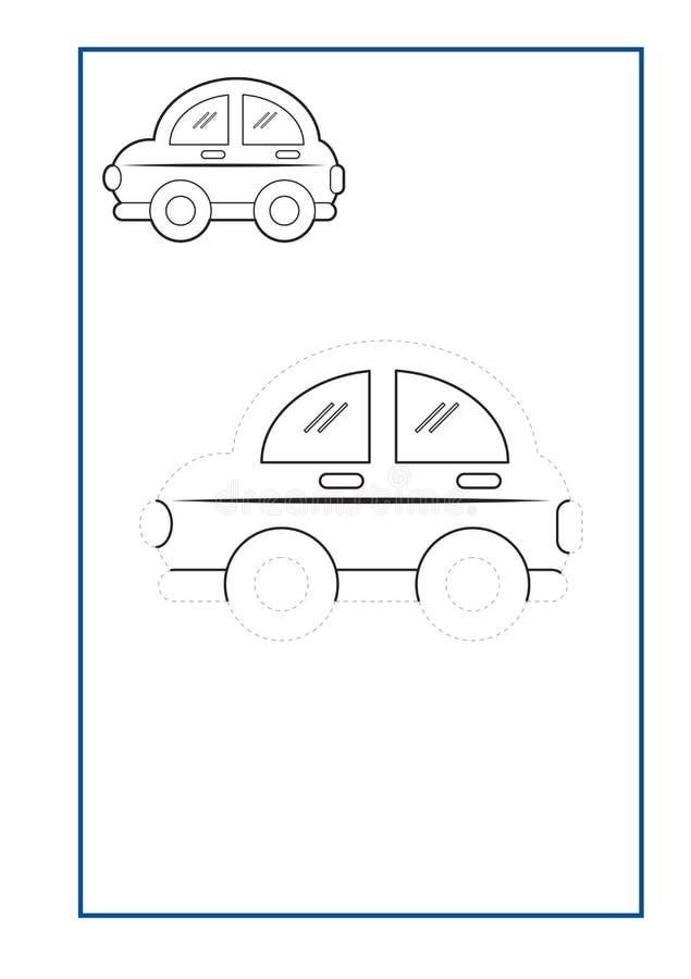 踪迹航线幼儿园的比赛传染媒介或幼儿园和特别教育 开发的fineÂ运动技巧的踪迹航线 皇族释放例证