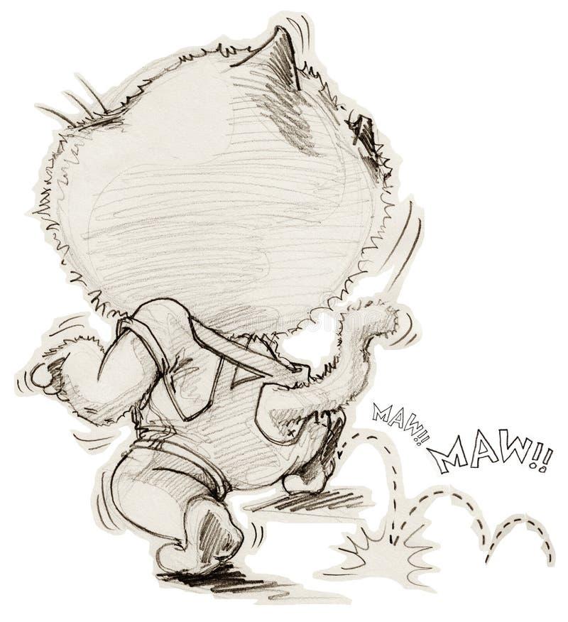 蹑手蹑脚地走的猫出逃某人图片