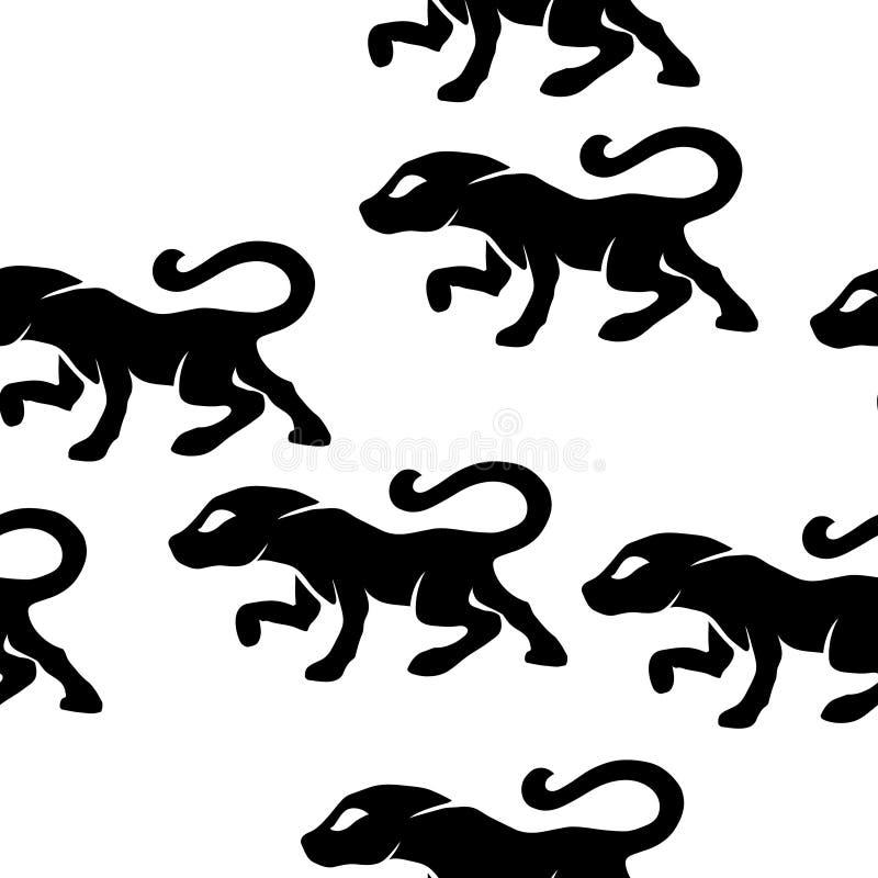 蹲下的似猫的纹理瓦片 皇族释放例证