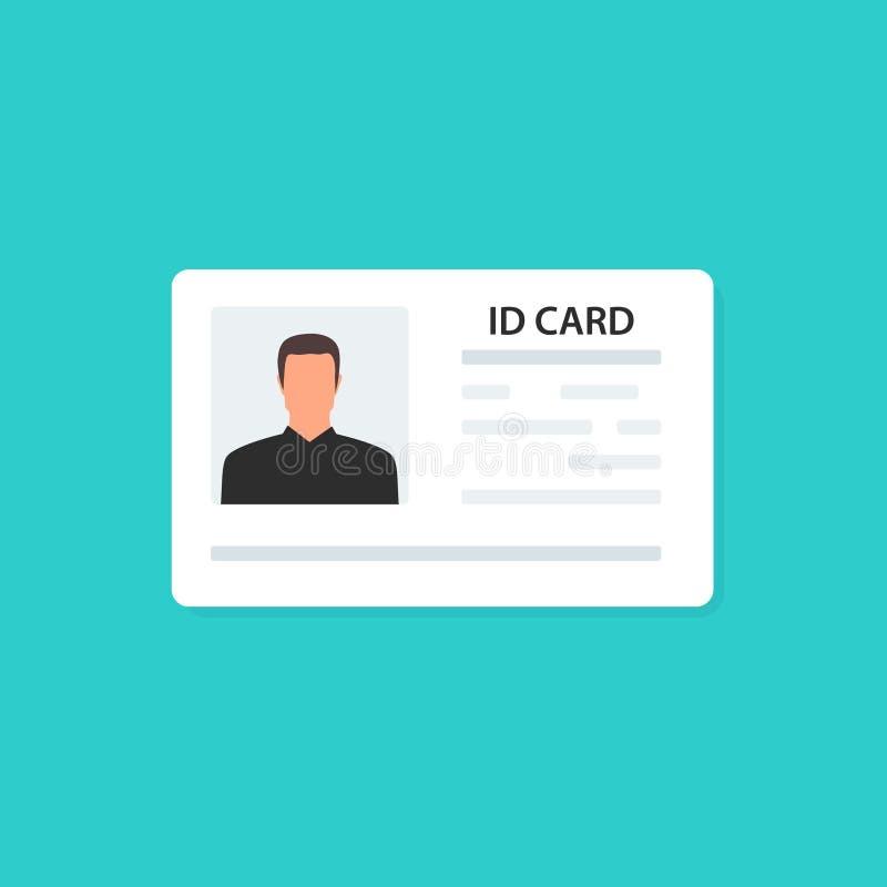 身份证和身份证 ?? ?? 传染媒介illustraation 库存例证