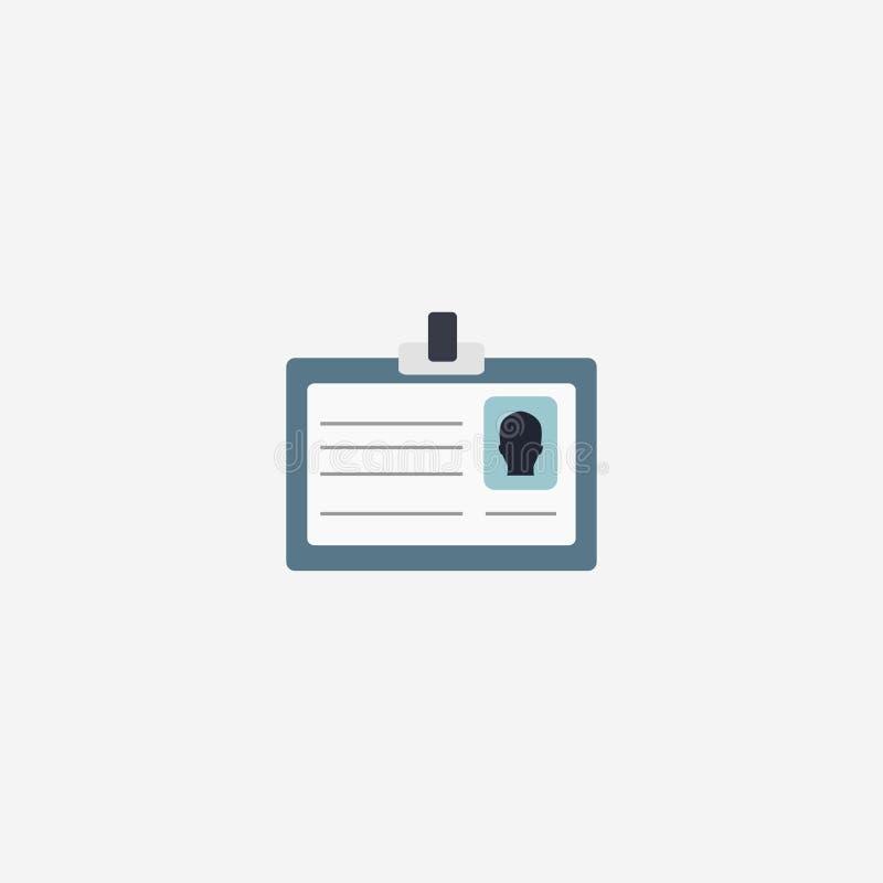 身份证象 导航例证,象卡片 也corel凹道例证向量 10 eps 库存例证