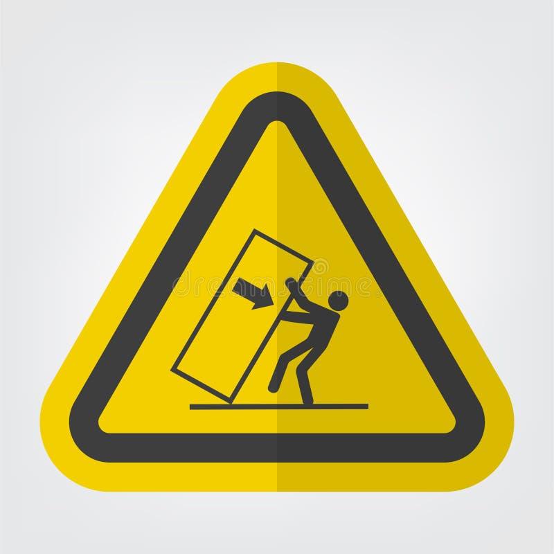 身体在危险标志标志孤立的易碎技巧在白色背景,传染媒介例证EPS 10 库存例证