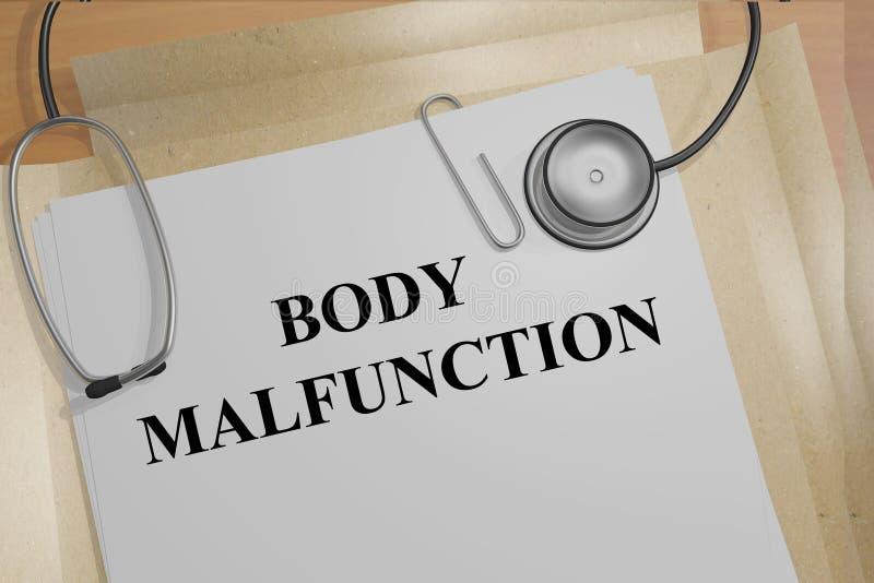身体故障medicial概念 库存例证
