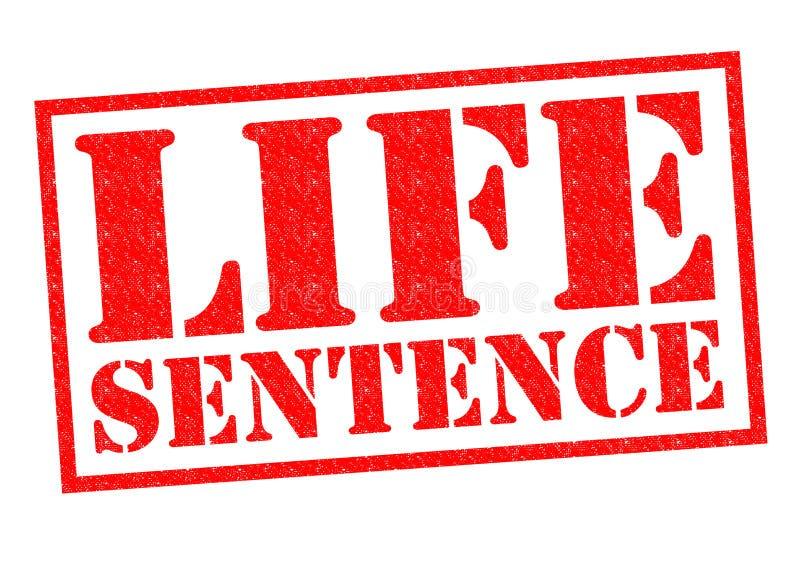 终身监禁 向量例证