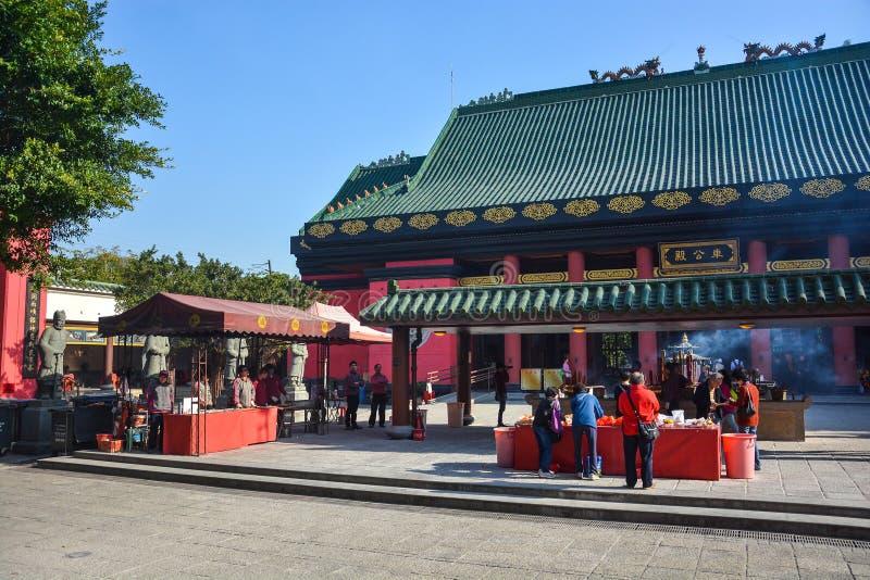 车公Kung寺庙在香港,中国 免版税库存图片