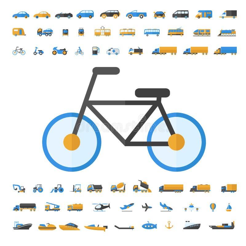 车和运输象集合 库存例证