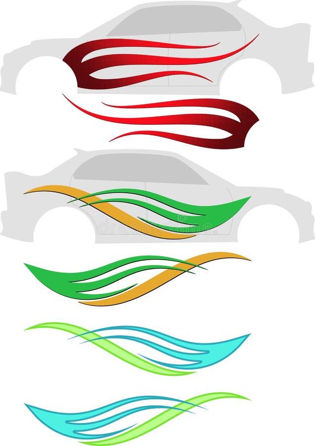车图表,条纹:准备好的乙烯基 向量例证