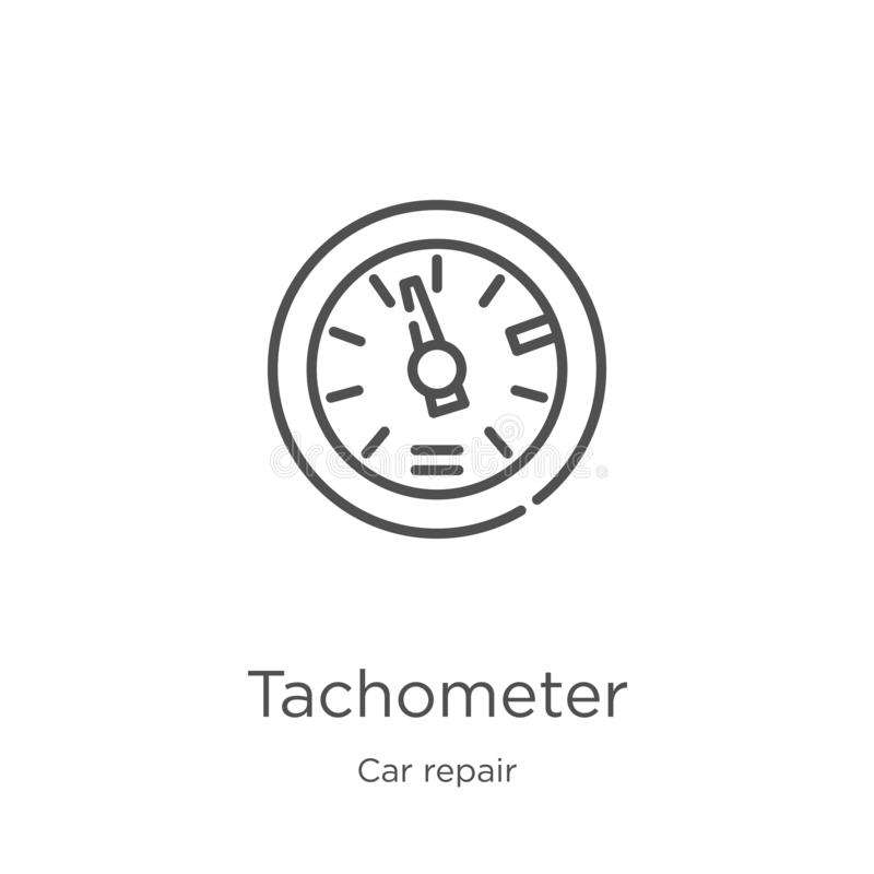 车头表从汽车修理汇集的象传染媒介 稀薄的线车头表概述象传染媒介例证 概述,稀薄的线 向量例证