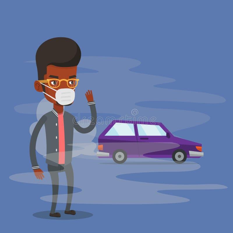 从车尾气的大气污染 皇族释放例证