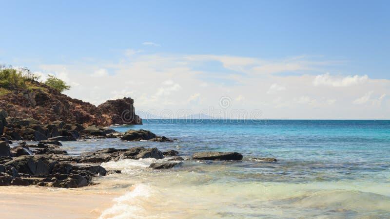 车床工海滩,安提瓜岛 免版税图库摄影