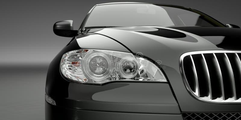 车灯豪华汽车 向量例证