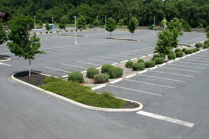 车的停车场 库存图片