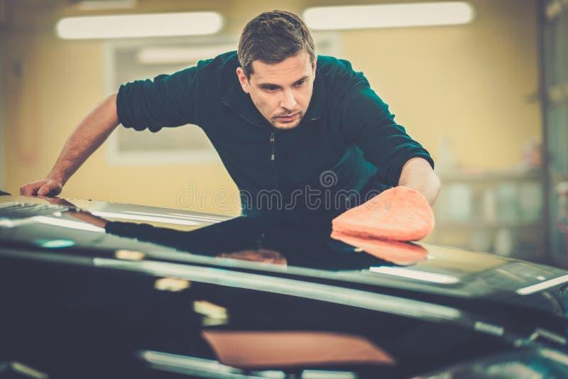 洗车的工作者 库存照片