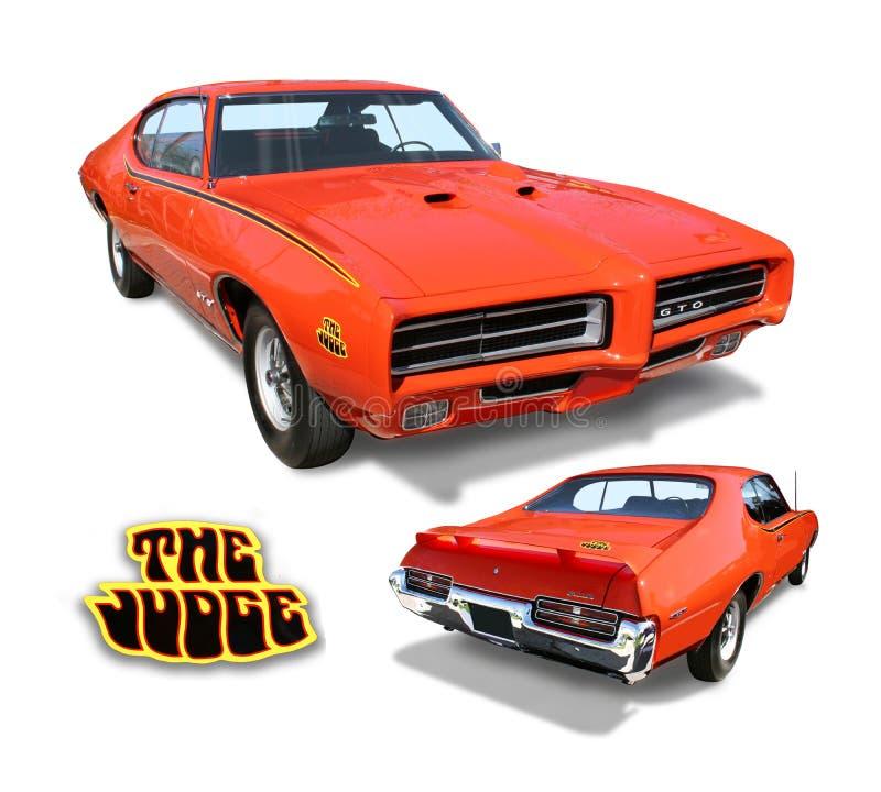 车的GTO被隔绝的美国经典肌肉 库存照片