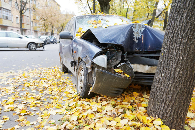 车祸交通事故 库存图片