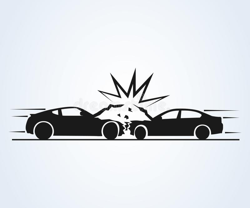 车祸和事故象 r 向量例证