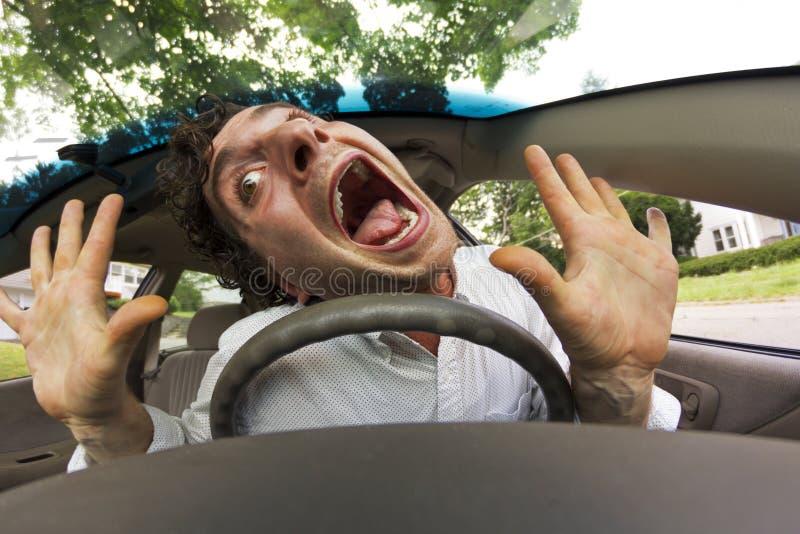 车祸面孔 图库摄影