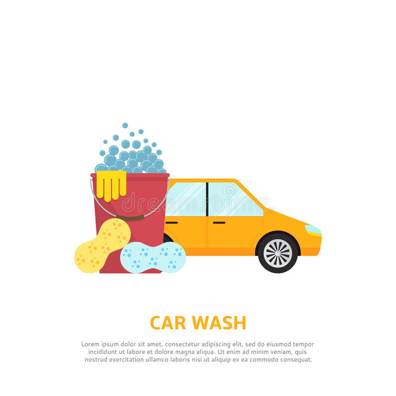 洗车网例证 库存例证