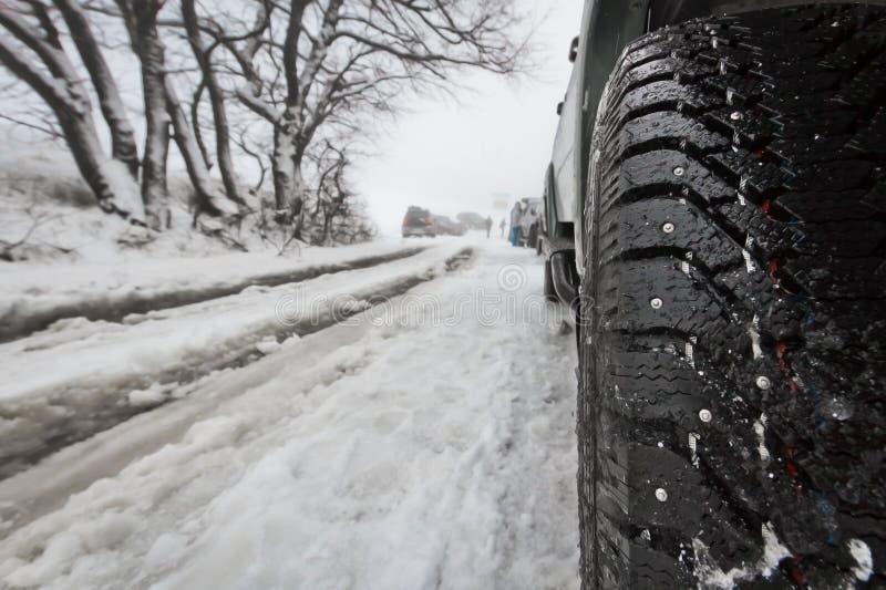 车胎冬天 图库摄影